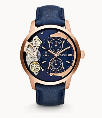ME1138 FOSSIL Townsman Multifunction Navy Leather Watch