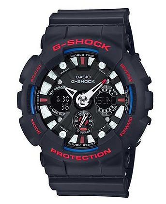 GA120TR-1ADR G-SHOCK Tri-colour Analog Digital Limited Sports watch