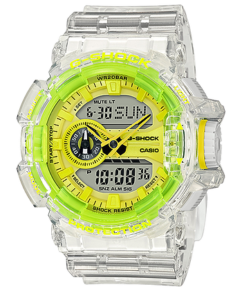 GA400SK-1A9DR G-Shock - Lime Green/Smoky Gray Translucent Rotary Duo
