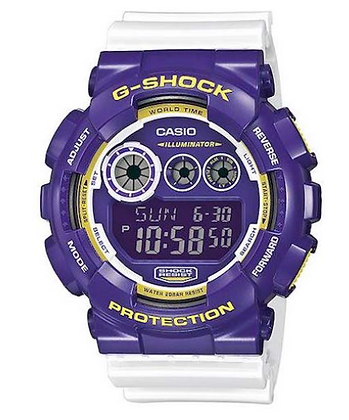 GD-120CS-6DR G-Shock Purple face with white strap Digital