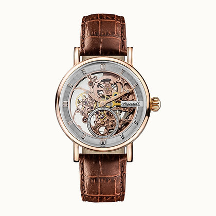 Ingersoll - The Herald Automatic Rose Gold/Brown Leather