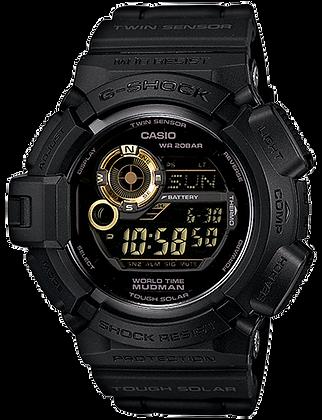 G-9300GB-1DR - G-SHOCK Black Monotone Mudman with COMPASS