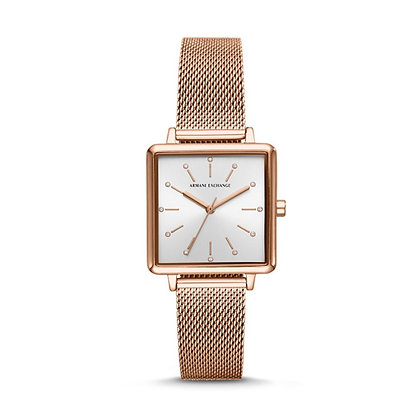 AX5802 A|X - Lola Square Silver Sunray/Rose Gold Mesh