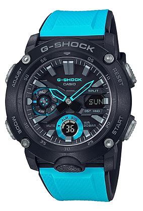 GA-2000-1A2DR - G-SHOCK- Carbon Core Guard Series - Black/Ocean Blue