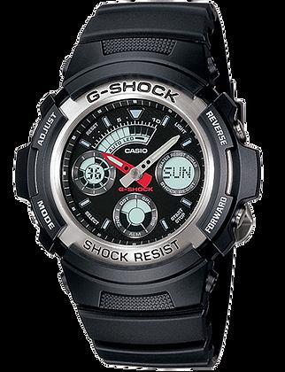 AW-590-1ADR - G-SHOCK Black and Aluminium Bezel Duo/Chrono