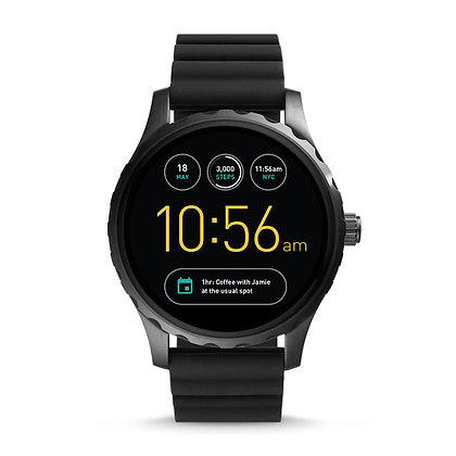 FTW2107 Smart - Fossil Marshal Black Silicone Gen 2
