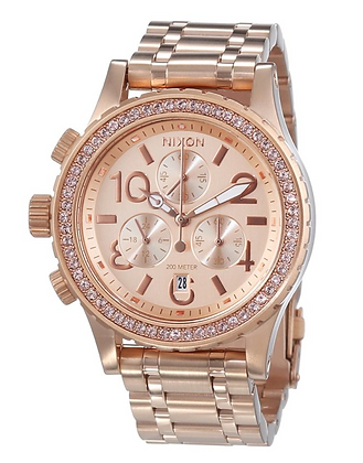 A404 897-00 NIXON 38-20 Ladies Rose Gold Chrono