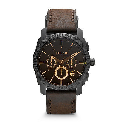 FS4656 MACHINE MID-SIZE CHRONOGRAPH BROWN LEATHER WATCH