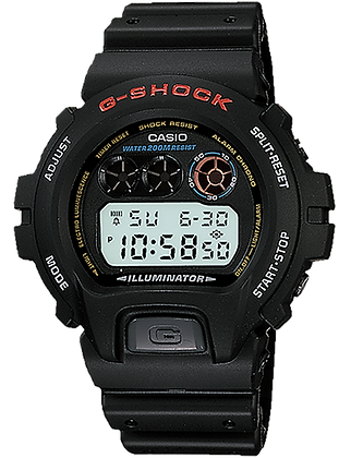 DW6900-1VDR - GSHOCK Retro Black Digital