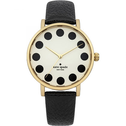 1YRU1017 - Black Metro Cream Dial Black Leather Ladies Watch