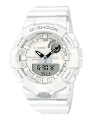 GBA-800-7ADR G-Shock White Step Tracker with bluetooth