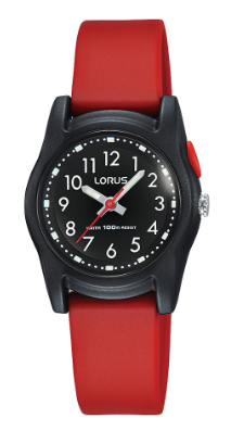 R2381MX-9 LORUS BLK RED ANALOGUE