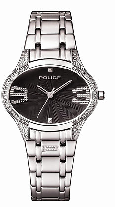 | IN STORE OFFER ONLY | POLICE - Oval Stainless Steel/Black w/Diamantes