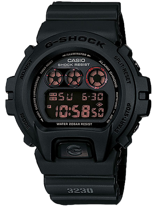 DW-6900MS-1DR G-Shock Stealth Black Round Digital