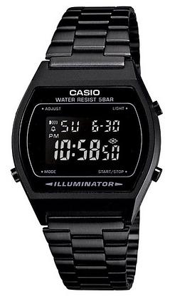 B640WB-1BEF Casio - Retro All Black Digital watch