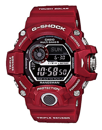 GW9400RD-4DR G-Shock Rangeman red Triple Sensor