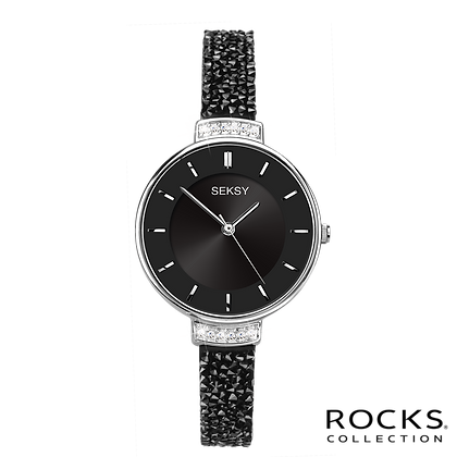 Seksy - Silver/Black Rocks® Stone Set Bracelet