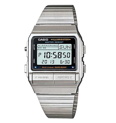 DB-380-1DF CASIO Men's Digital 5 Alarm Multi-lingual Data Bank