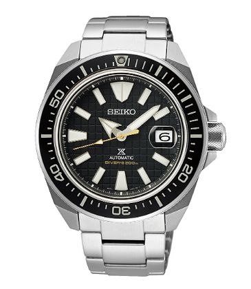 "SRPE35K Seiko Black ""King Samurai"" Automatic"