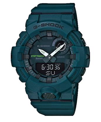 GBA-800-3ADR G-Shock Green Step Tracker with bluetooth