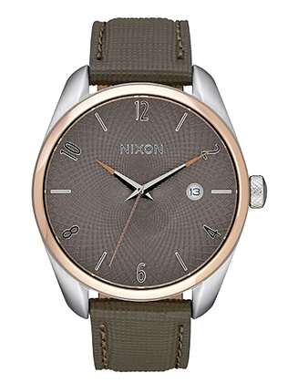 A473 2214-00 NIXON Bullet  Leather watch | Rose Gold/Taupe Ladies