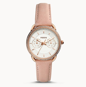 ES4393 FOSSIL Tailor Multifunction Blush Leather Watch