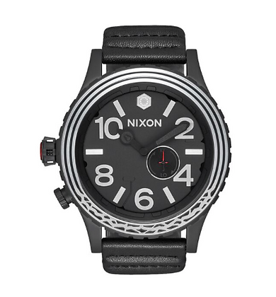 A1063SW NIXON Men's 51-30 Kylo in black leather