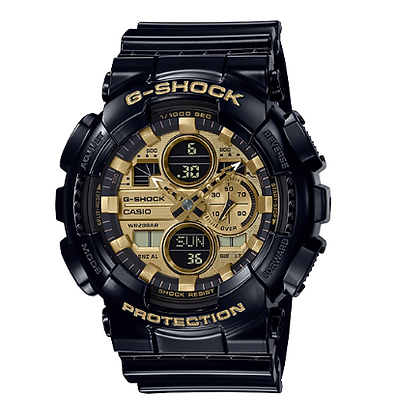 GA140GB-1A1-G Shock Black/Gold Duo