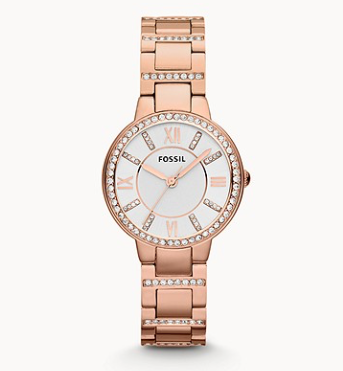 ES3284 FOSSIL Virginia Rose-Tone Stainless Steel Watch