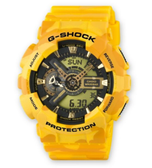 GA-110CM-9ADR - G-SHOCK Camo Yellow