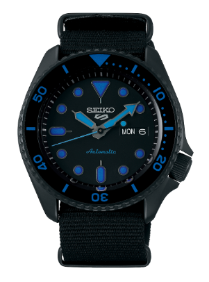 SRPD81K1 - Seiko 5 Sports Street Hard Coating Blue