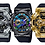 Thumbnail: GM-110G-1A9DR G-Shock Gold IP stainless steel bezel and black resin band