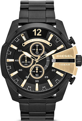 DZ4338 Diesel - Mega Chief Black/Gold Stainless Steel Chromo