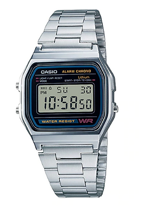 A158WA-1 Casio - Retro Stainless Steel Digital