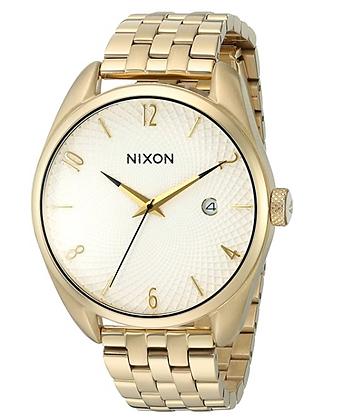 A418 508-00 NIXON Ladies 'BULLET WHITE' gold quartz