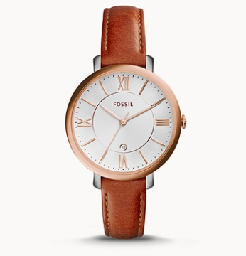 ES3842 FOSSIL Jacqueline Cedar Leather Watch