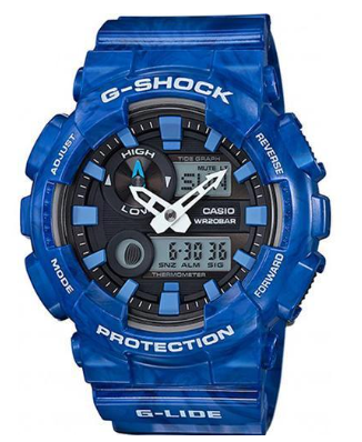 GAX-100MA-2ADR G-SHOCK G-Lide Series  Blue Analogue