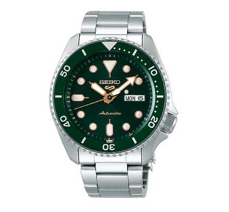 SRPD63K Seiko 5 Automatic Green Dial with Rose Gold accents
