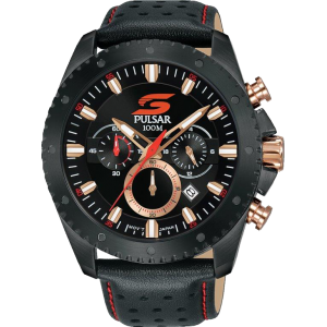 Pulsar Limited Edition - Supercars Black and Rose Gold Chrono