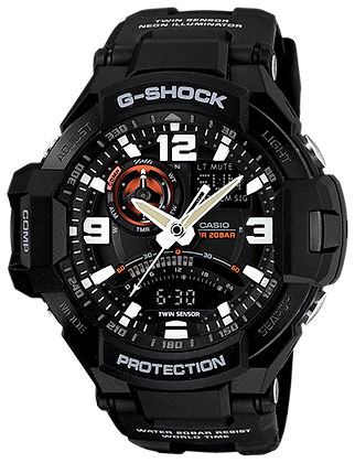 GA-1000-1ADR G-Shock Gravity Defier  All Black Twin Sensor
