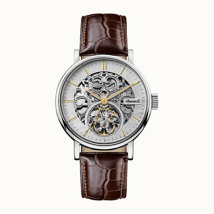 Ingersoll - The Charles - Silver/ Brown Leather