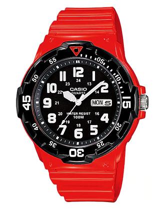 MRW200HC-4BV Casio - Red and Black Timing Bezel Analog