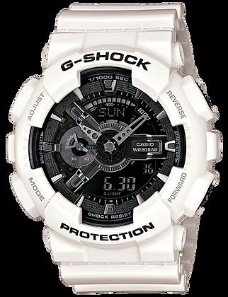GA110GW-7A G-Shock Gloss White and Gunmetal Duo/Chrono