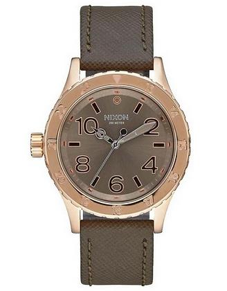 A467 2214-00 NIXON Rose Gold  38-20 Leather | Unisex