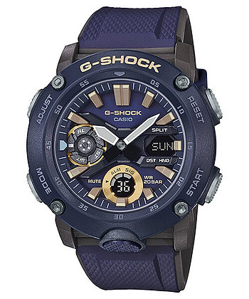 GA-2000-2ADR - G-SHOCK - Carbon Core Guard Series - Navy Blue and Gold