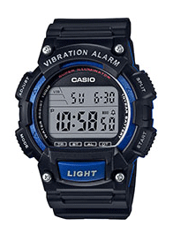 W736H-2AVDF CASIO VIBRATION WATCH BLK/BLU
