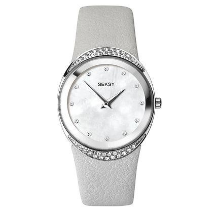 Seksy - Silver/Grey Leather