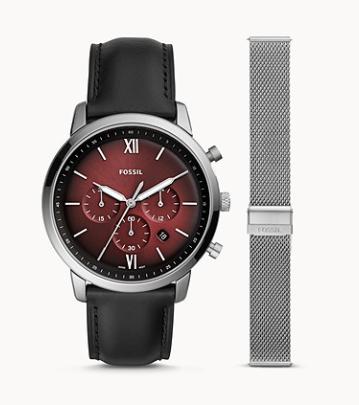 FS5600SET FOSSIL Neutra Chronograph Leather with Interchangeable Bracelet set