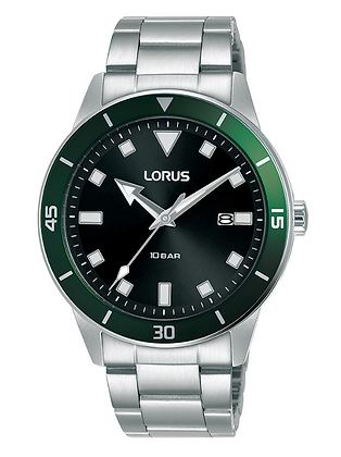 RH983LX-9 LORUS Men's Green face Stainless Steel watch