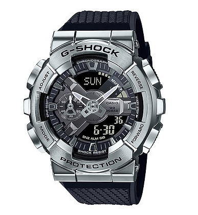 GM-110-1ADR G-Shock Silver stainless steel bezel and black resin band